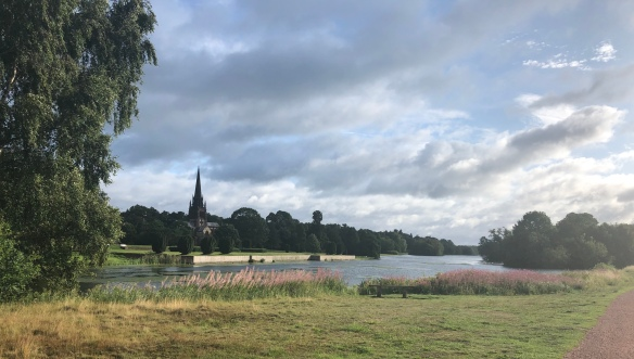 Clumber park lake, taken on the warm up run just before Saturday's parkrun