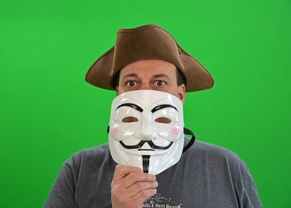 Picture of a man wearing a mask.